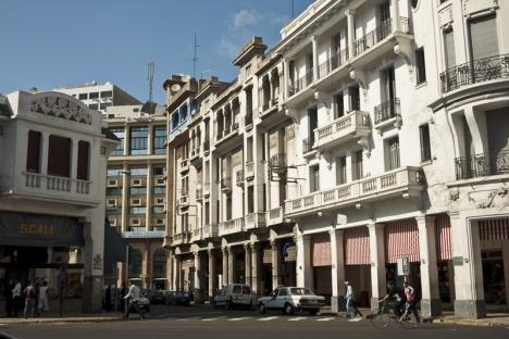 La magnifique architecture des batîments de Casablanca