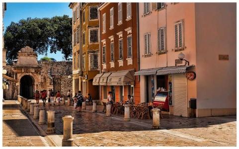 Les magnifiques rues de Zadar