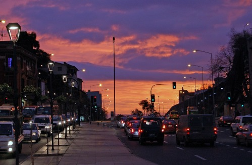 La ville de Viña del Mar de nuit