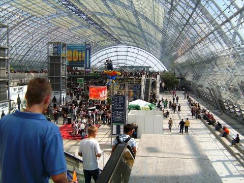 Le parc exposition de Leipzig