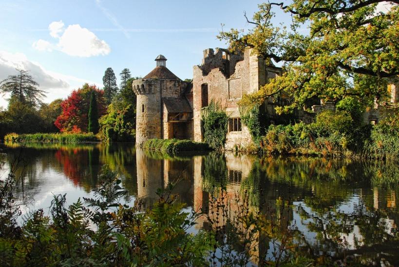 Châteaux de Scotney dans le Kent